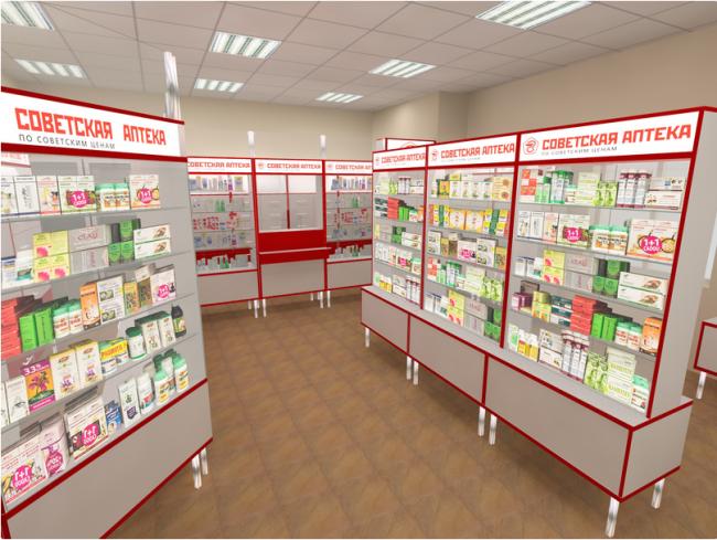 Помещение советской аптеки