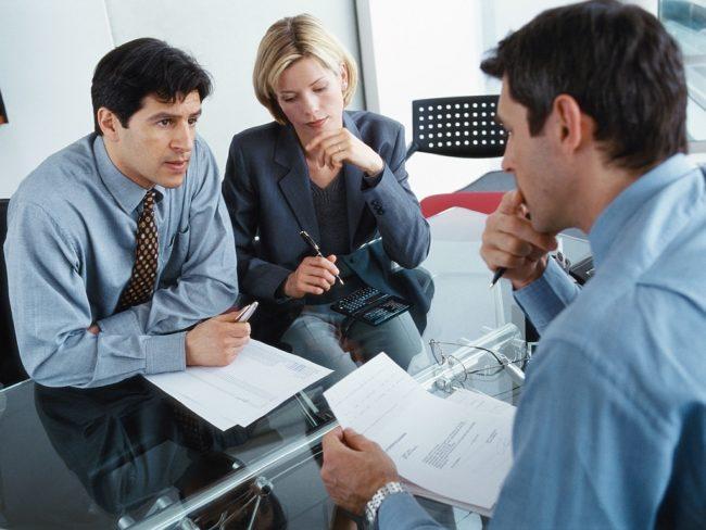 Собеседование в офисе