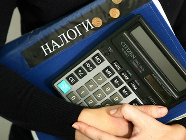 Папка «Налоги»