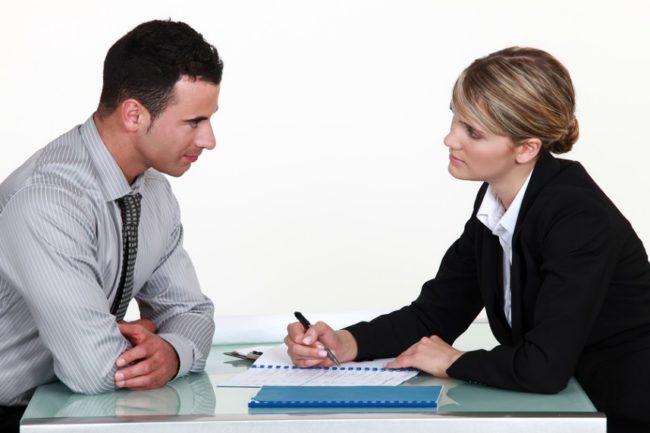 Беседа работника с работодателем