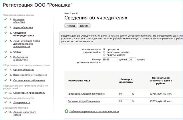Реестр регистрации предприятий