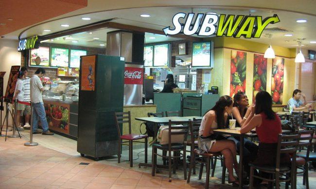 Рестораны быстрого питания Subway