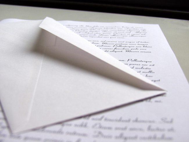 Конверт и письмо