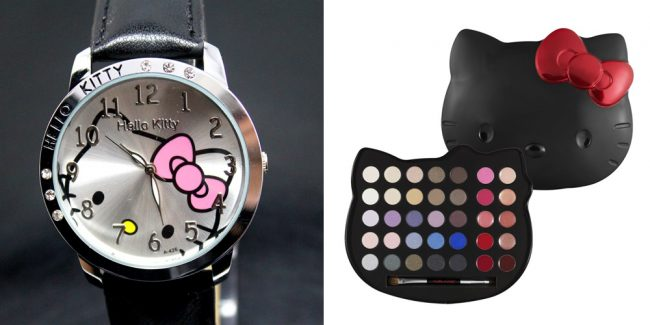 Часы и палетка с тенями Hello Kitty