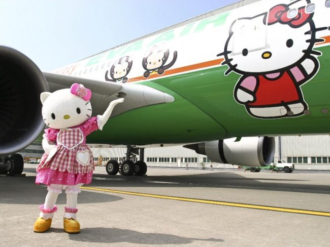 Hello Kitty на борту авиалайнера