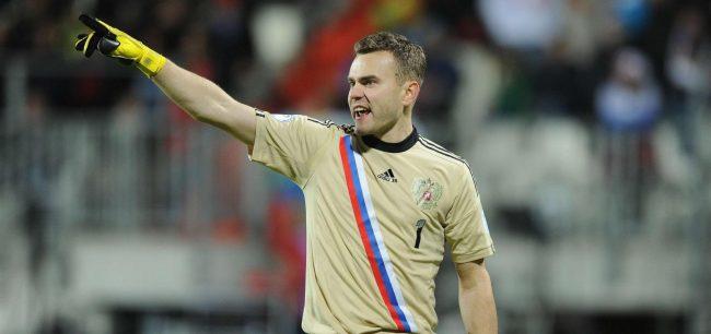 Вратарь сборной России по футболу Игорь Акинфеев