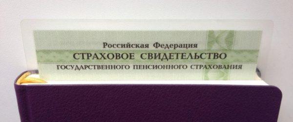 СНИЛС в записной книге