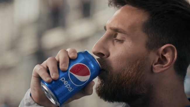 Месси в рекламе Pepsi