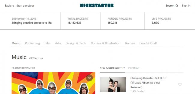 Платформа Kickstarter