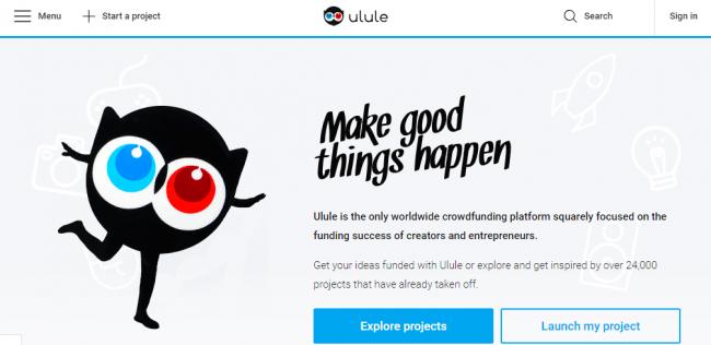 Краудфандинговая площадка Ulule