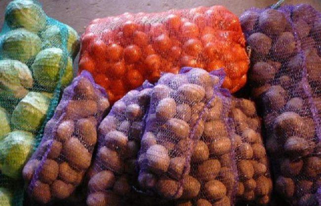Овощи в сетках