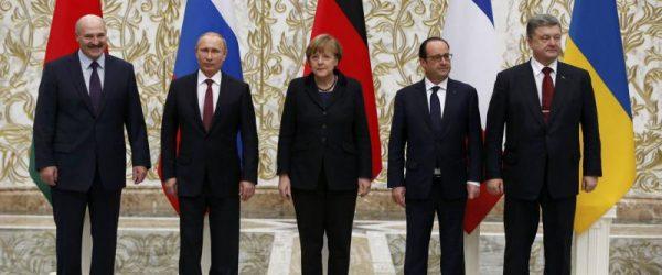 Лидеры стран-участников Минских соглашений