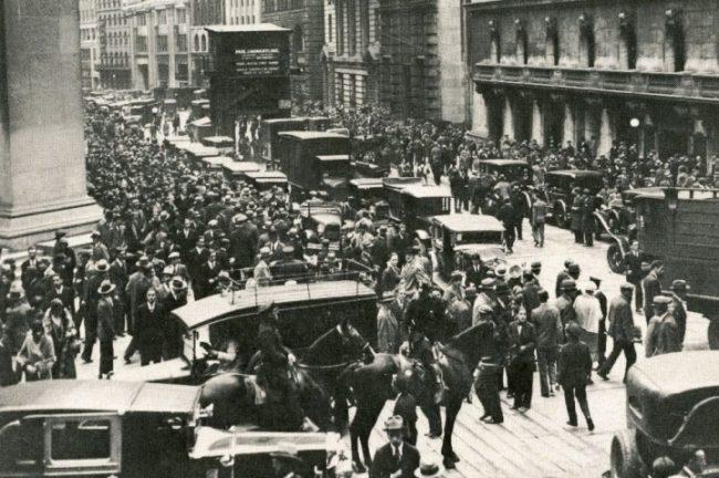 Люди на улице во времена Великой депрессии