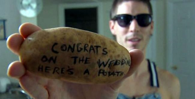 Самая неординарная идея SMS на картофеле