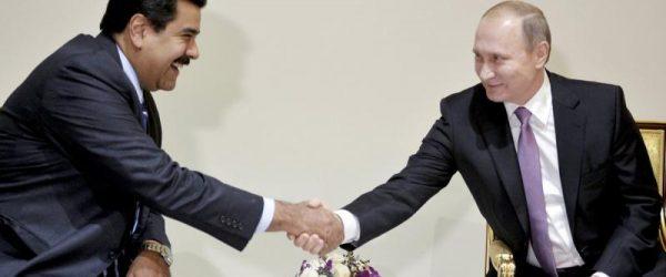 Президенты Венесуэлы и России
