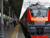 Логотип РЖД на локомотиве