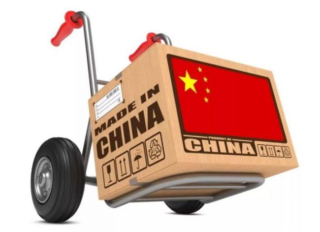 Коробка с китайскими товарами