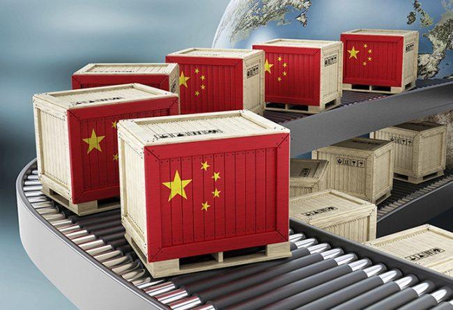 Ящики с товарами из Китая