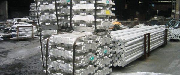 Алюминий на складе