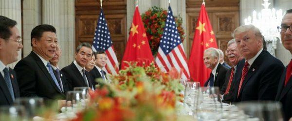 Дональд Трамп и Си Цзиньпин за одним столом на саммите G20