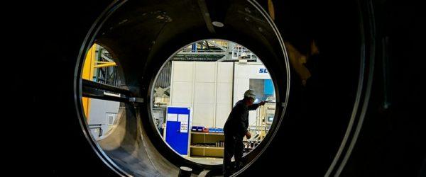Турбина Siemens, монтаж