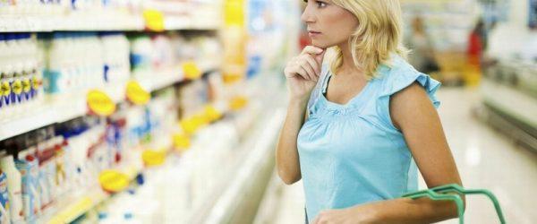 Выбор продуктов в магазине