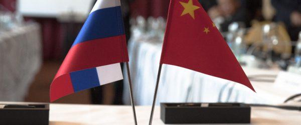 Флаг России и КНР