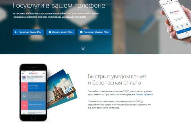 Мобильное приложение портала госуслуг