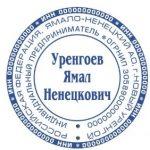Образец оттиска печати ИП, вариант 2