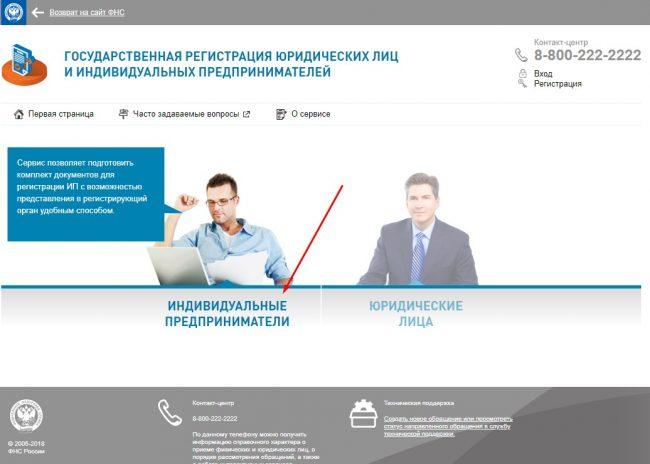 Страница сайта ФНС