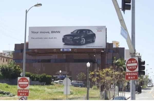 Реклама Audi с обращением к BMW