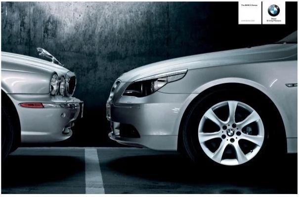 Реклама BMW, троллящая Jaguar