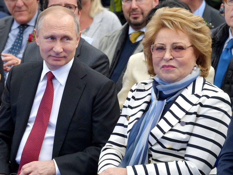 Валентина Матвиенко сказала, что годы работы с Путиным — лучшие в её жизни