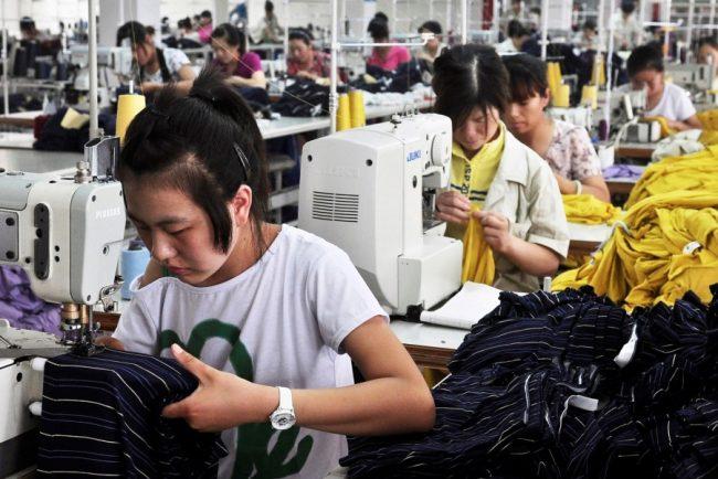 Китайская швейная фабрика