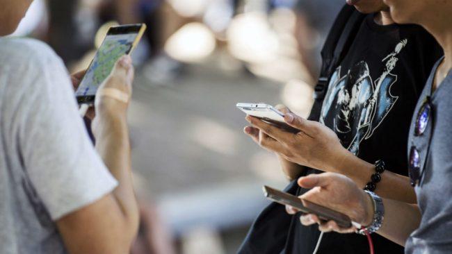 Пользователи со смартфонами