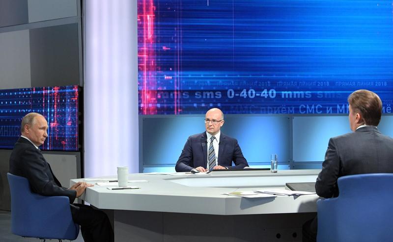 ВЦИОМ дал оценку интересу россиян к прямой линии с президентом