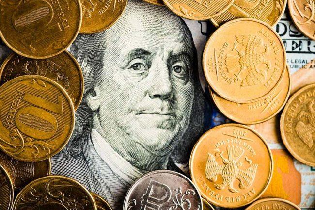 Доллар и российские рубли