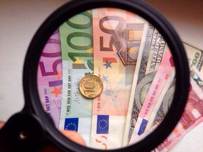 Евро, доллар и российские рубли