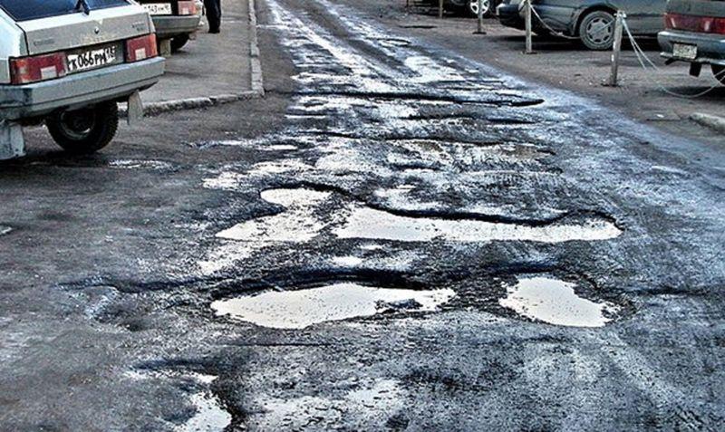 Названы города России с самыми плохими дорогами