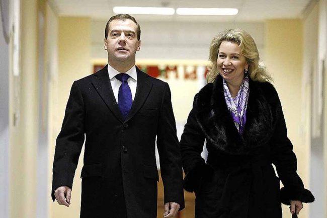 Светлана и Дмитрий Медведевы