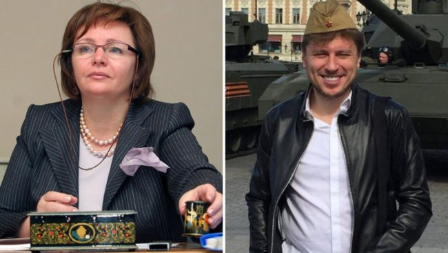 Людмила Очеретная и её супруг