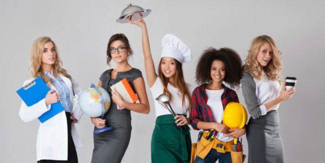 Девушки-специалисты разных профессий