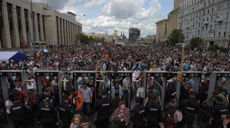 Митинг в поддержку политзаключённых и фигурантов «московского дела» прошёл накануне в столице