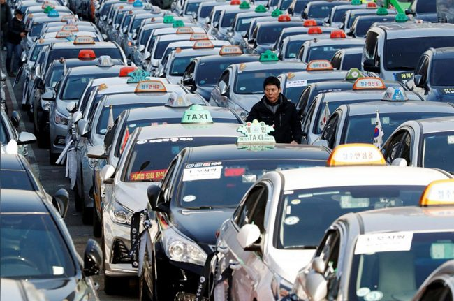 Такси в Корее