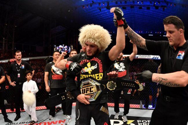 Победа в поединке UFC