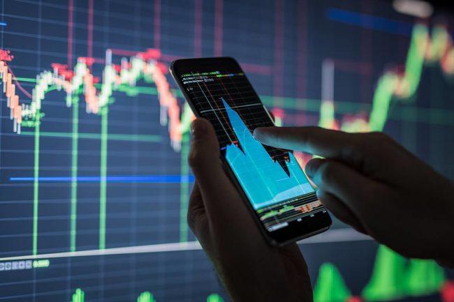 График торгов на фондовом рынке